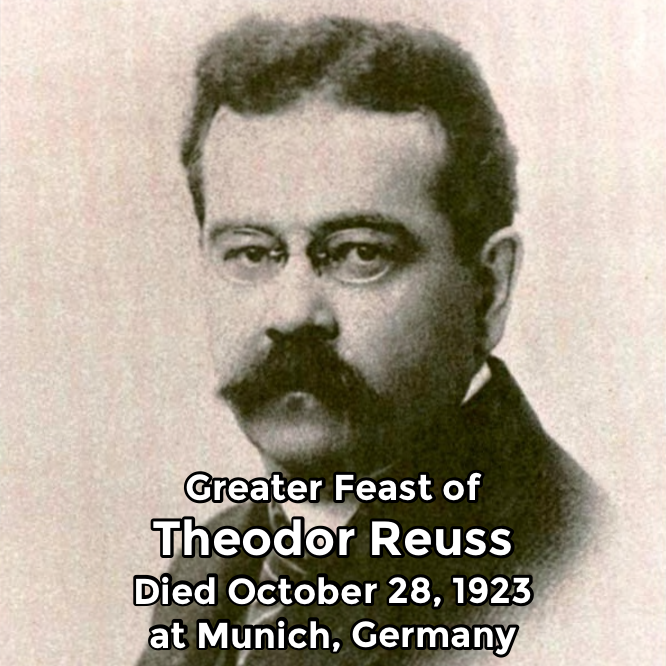 Hermetic Saints October 28 Theodor Reuss Greater
