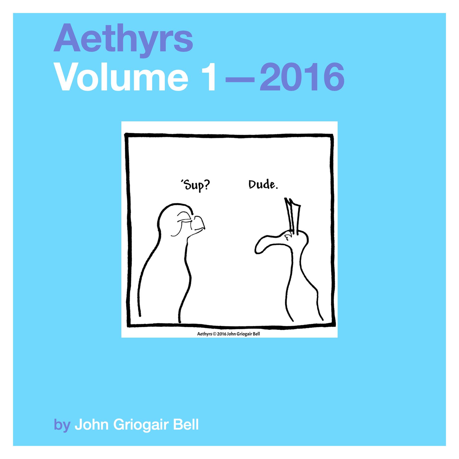 Aethyrs Volume 1 2016 cover