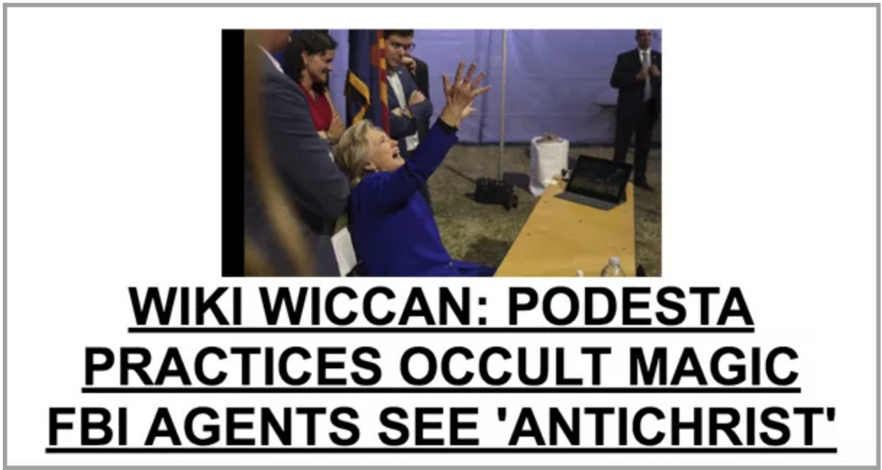 BoingBoing wiki wiccan Podesta sex magic antichrist