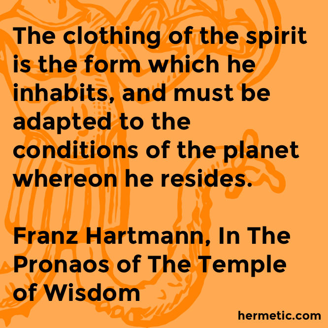 Hermetic quote Hartmann Pronaos clothing