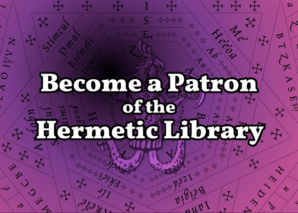 Become a Patron of the Hermetic Library