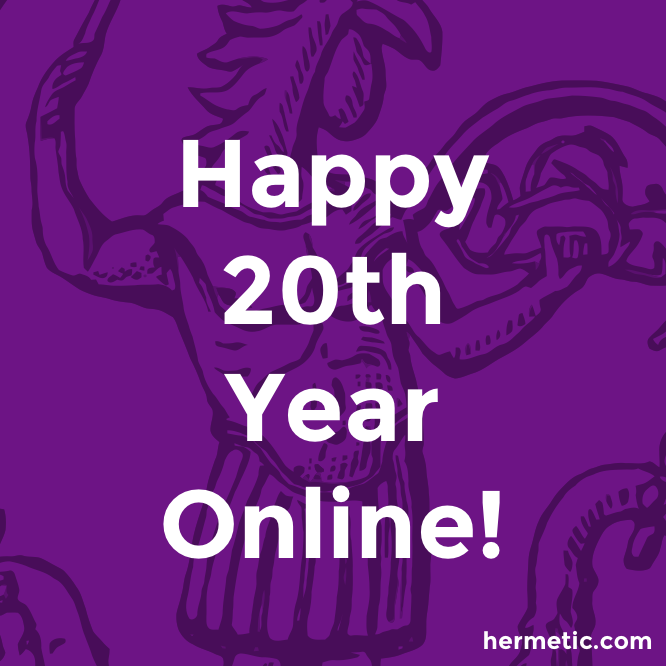 Hermetic Library Happy 20th Year Online