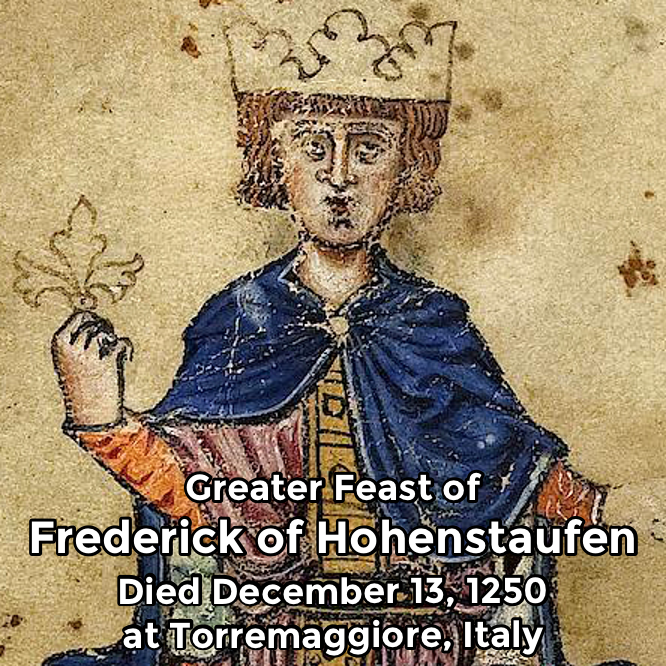 Hermetic Saints December 13 Frederick of Hohenstaufen Greater Feast
