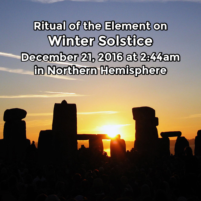 Hermetic Saints December 21 2016 Winter Solstice Ritual of the Element