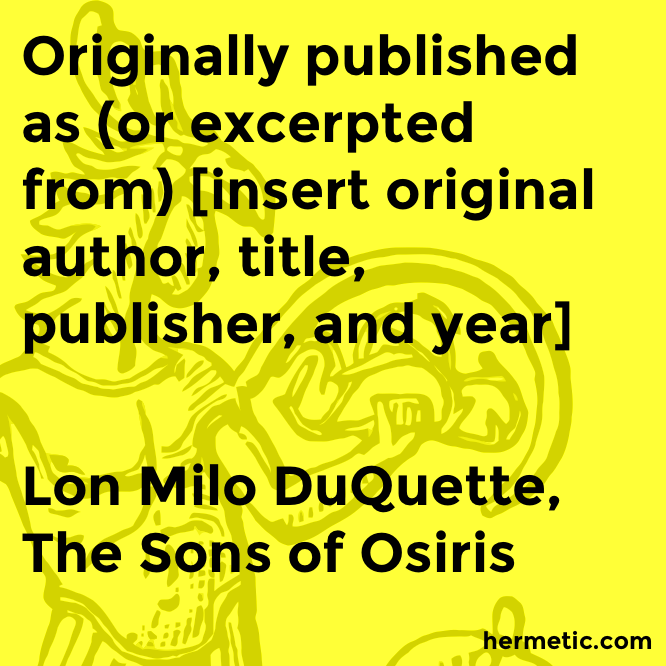 Lon Milo DuQuette Archives - The Hermetic Library Blog