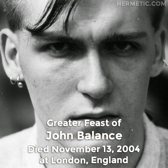 Hermetic calendar Nov 13 John Balance