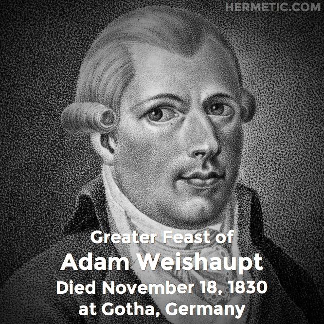 Hermetic calendar Nov 18 Adam Weishaupt
