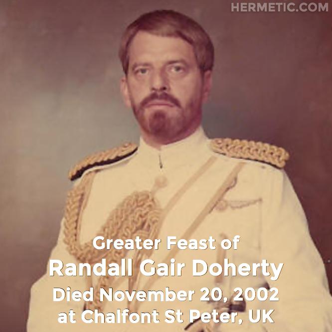 Hermetic calendar Nov 20 Randall Gair Doherty