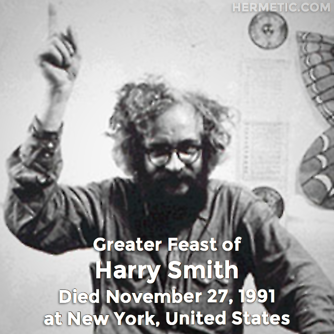 Hermetic calendar Nov 27 Harry Smith