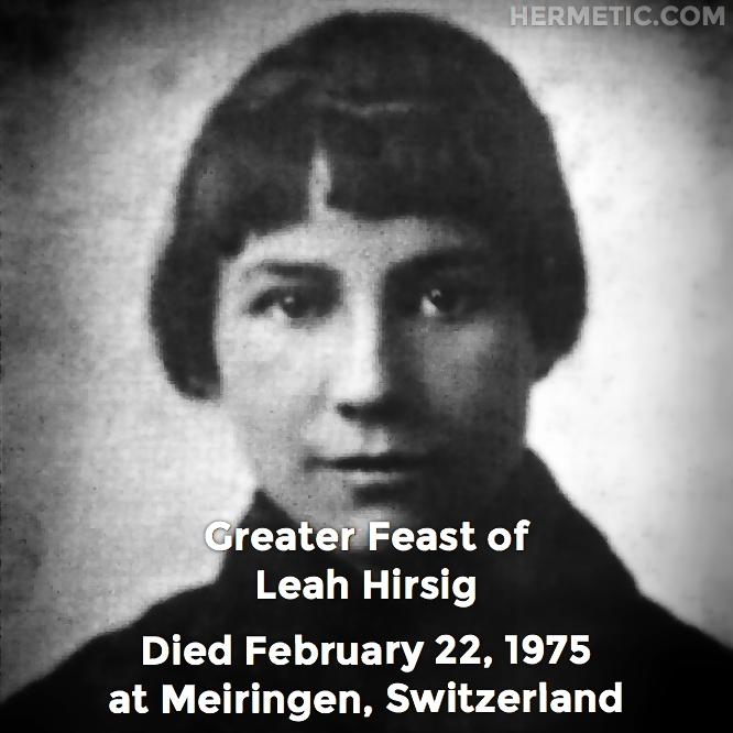 Hermetic calendar Feb 22 Leah Hirsig