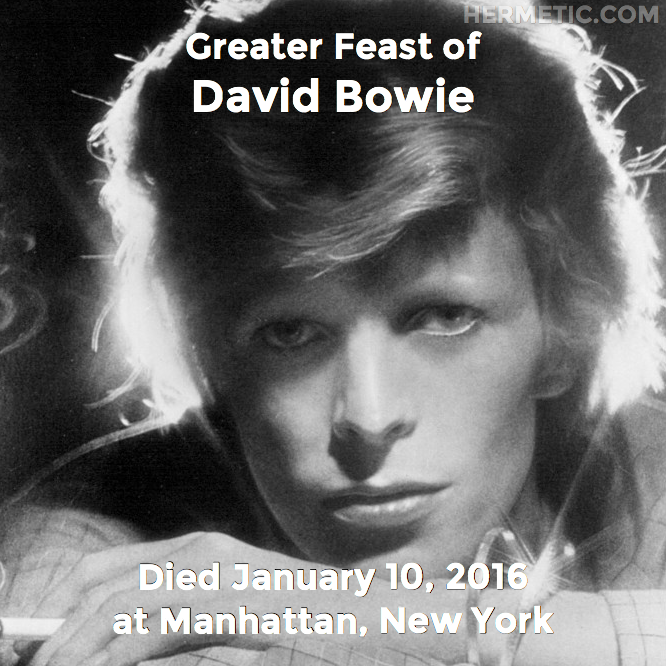 Hermetic calendar Jan 10 David Bowie