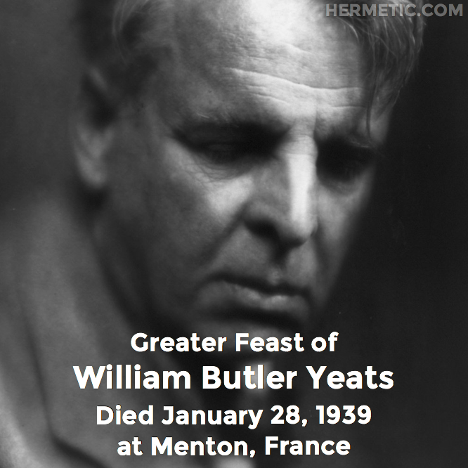 Hermetic calendar Jan 28 William Butler Yeats
