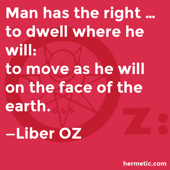 Hermetic quote Liber OZ move as he will