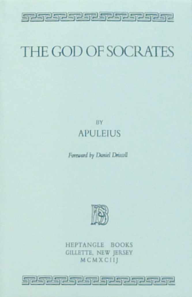 Apuleius The God of Socrates