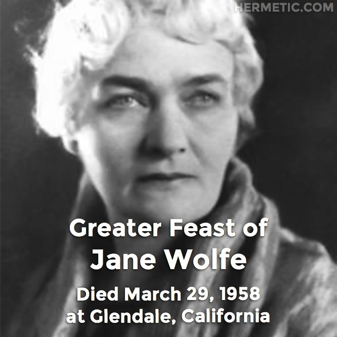 Hermetic calendar Mar 29 Jane Wolfe Estai