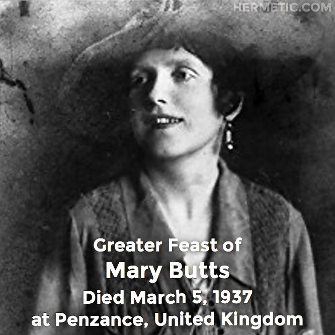 Hermetic calendar Mar 5 Mary Butts