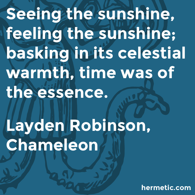 Hermetic quote Robinson Chameleon time