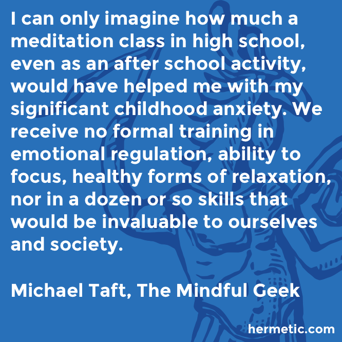 Hermetic quote Taft Mindful school