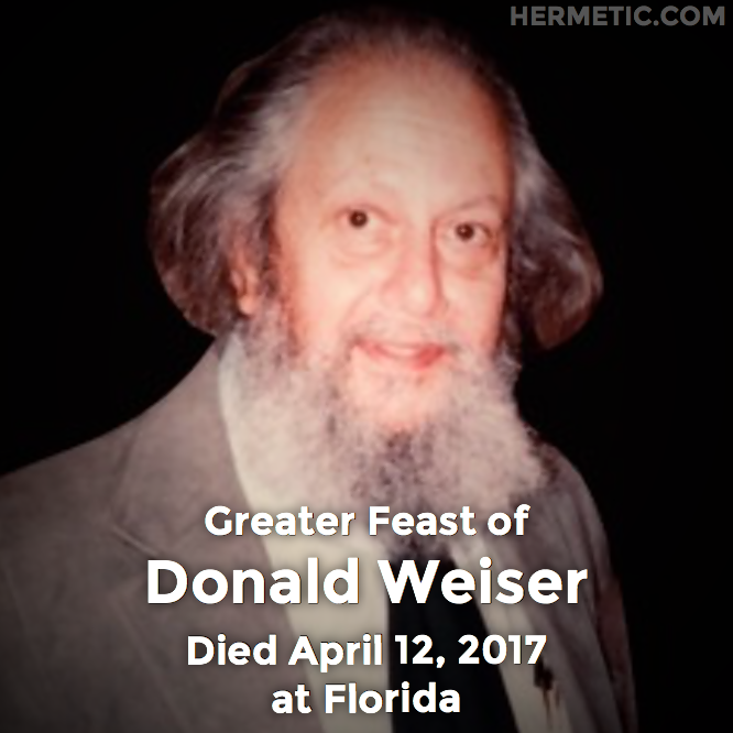 Hermetic calendar Apr 12 Donald Weiser