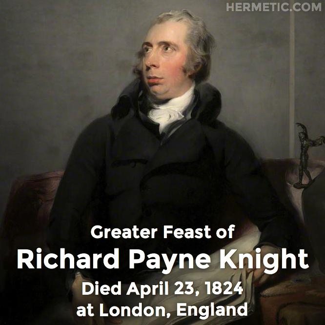 Hermetic calendar Apr 23 Richard Payne Knight
