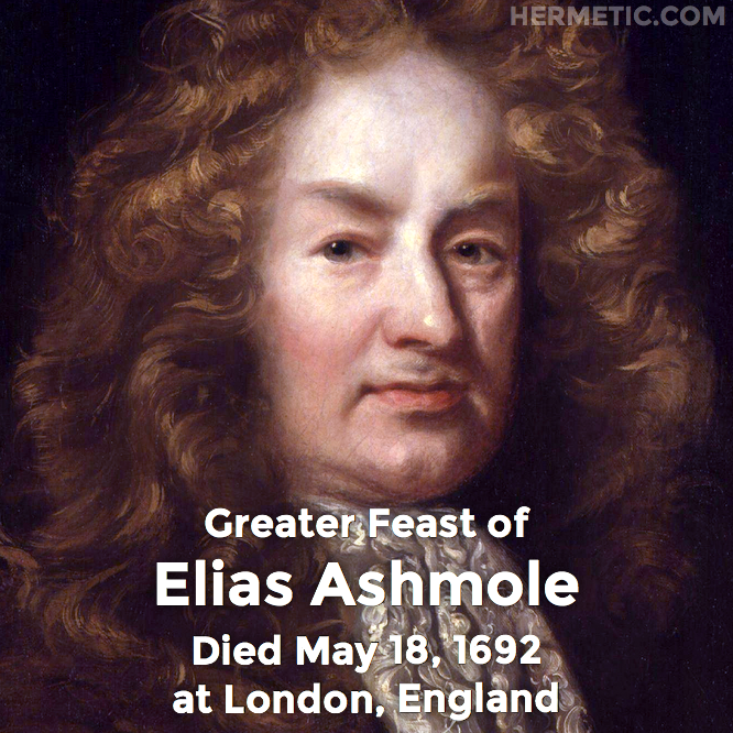 Hermetic calendar May 18 Elias Ashmole