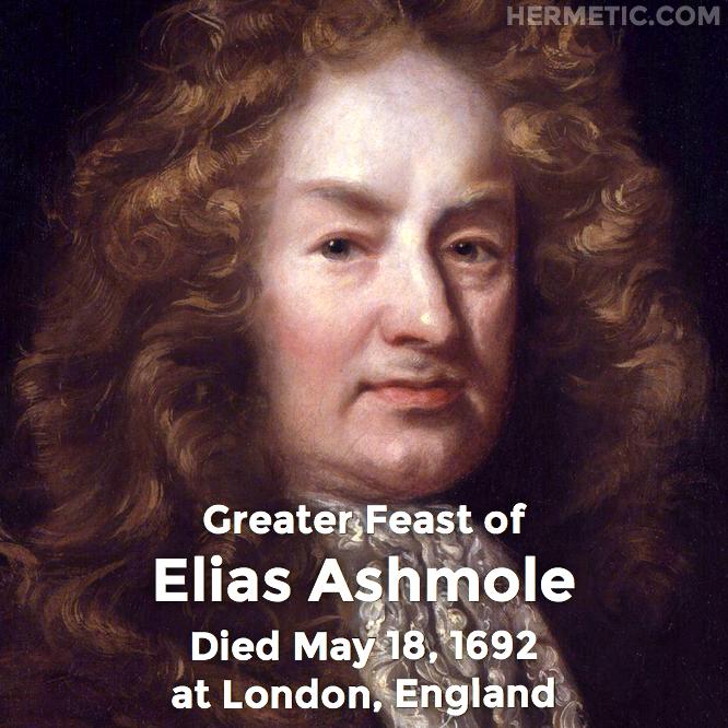 Hermetic calendar May 18 Elias Ashmole