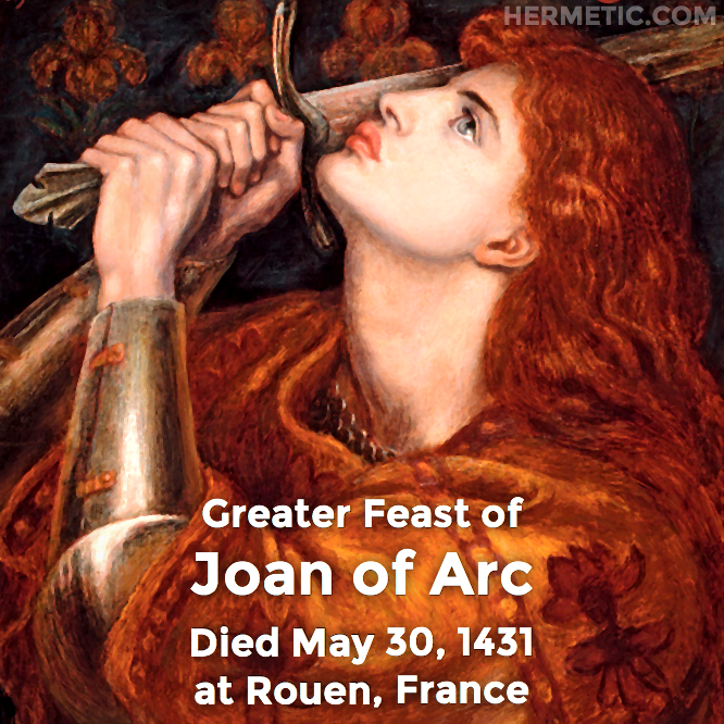 Hermetic calendar May 30 Joan of Arc