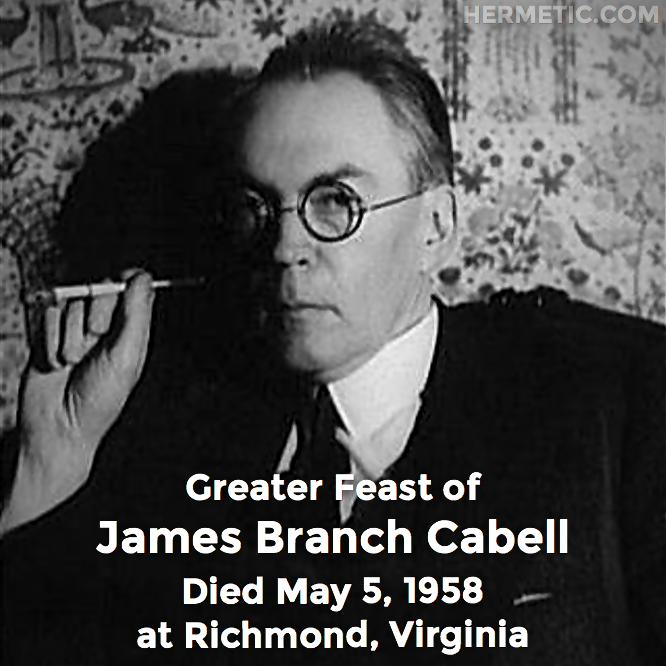 Hermetic calendar May 5 James Branch Cabell