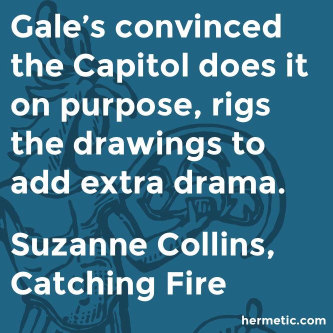 Hermetic quote Collins Fire drama