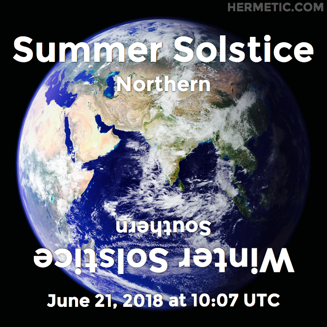 Hermetic calendar Jun 21 Summer Solstice 2018