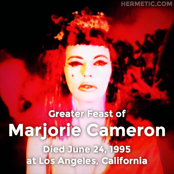 Hermetic calendar Jun 24 Marjorie Cameron