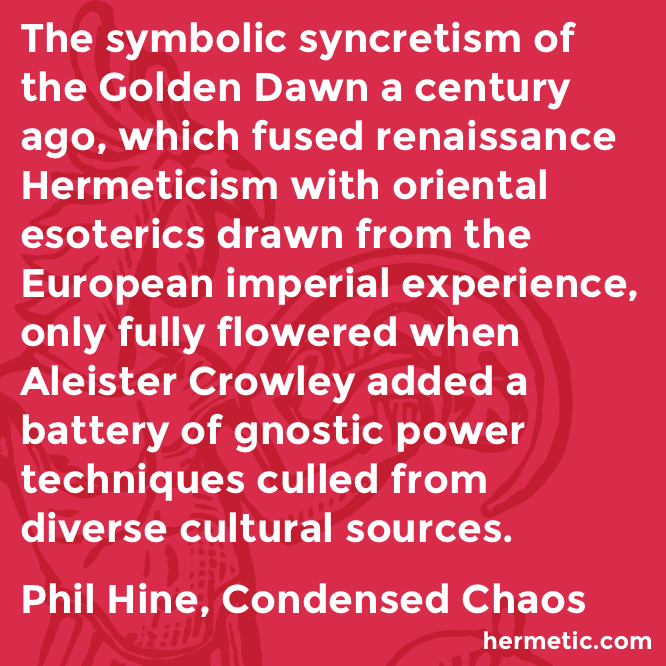 Hermetic quote Hine Condensed sources