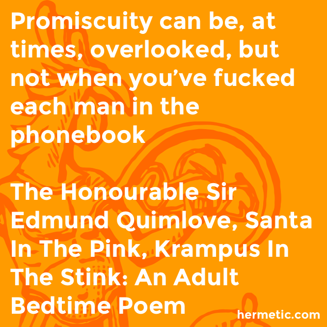 Hermetic quote Quimlove Krampus promiscuity