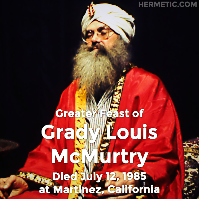 Hermetic calendar Jul 12 Grady Louis McMurtry