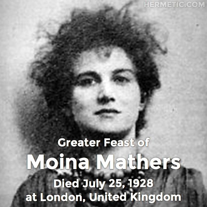 Hermetic calendar Jul 25 Moina Mathers