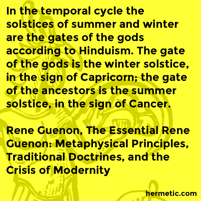 Hermetic quote Guenon Essential cycle
