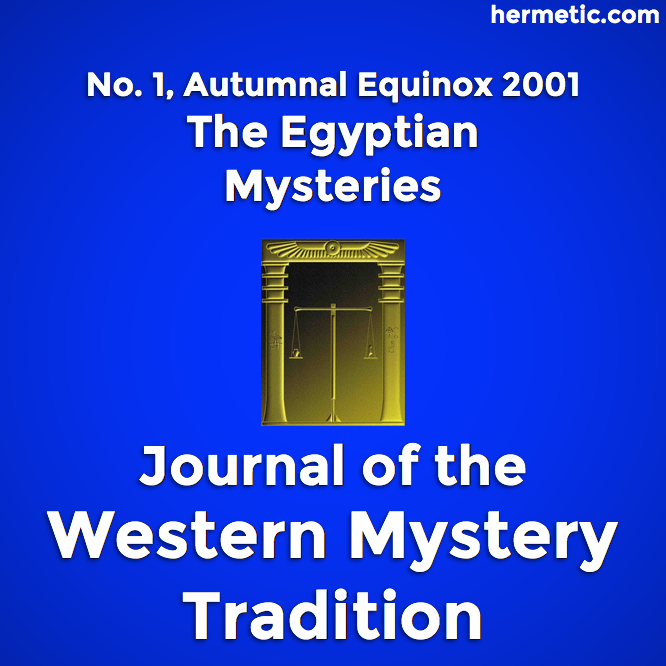 Hermetic sections JWMT 1 The Egyptian Mysteries