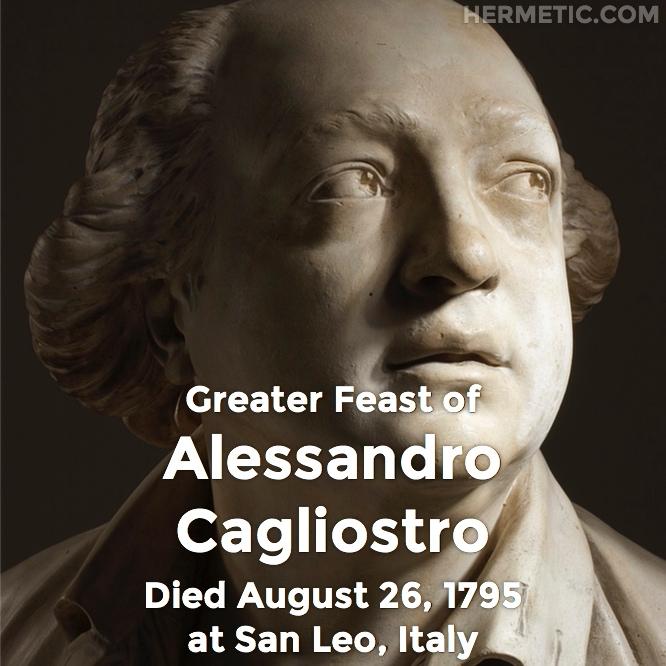 Hermetic calendar Aug 26 Cagliostro