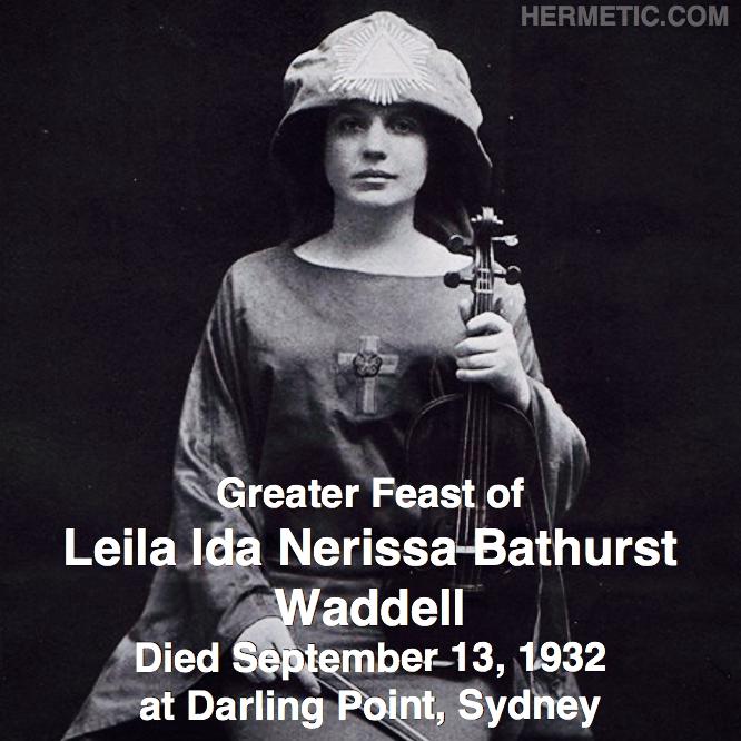 Hermetic calendar Sep 13 Leila Waddell