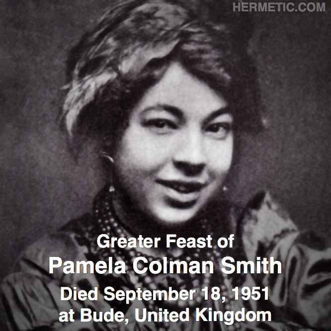 Hermetic calendar Sep 18 Pamela Colman Smith