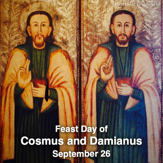 Hermetic calendar Sep 26 Cosmus and Damianus