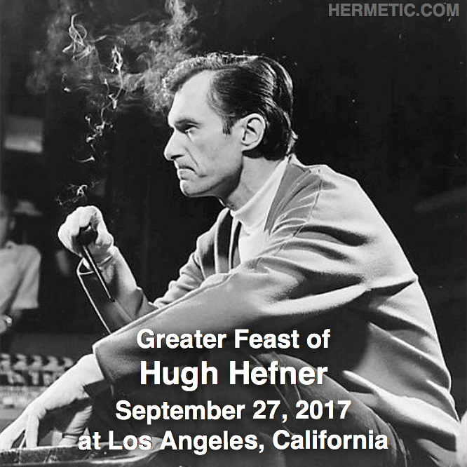 Hermetic calendar Sep 27 Hugh Hefner
