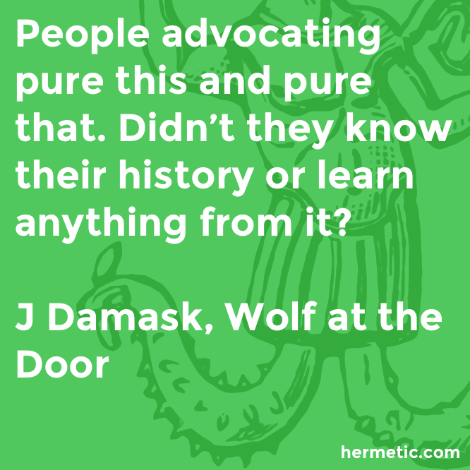 Hermetic quote Damask Wolf pure