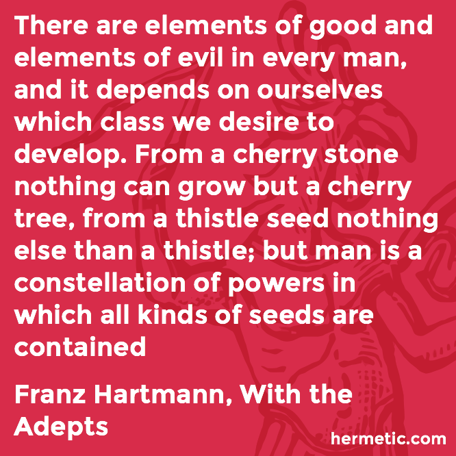 Hermetic quote Hartmann Adepts seeds