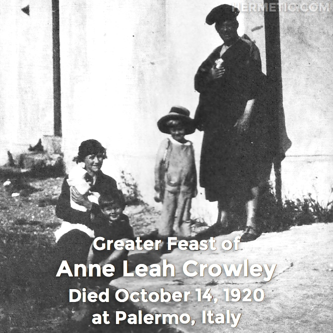 Hermetic calendar October 14 Anne Leah Poupee Crowley