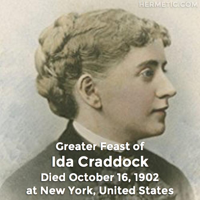Hermetic calendar October 16 Ida Craddock greater feast