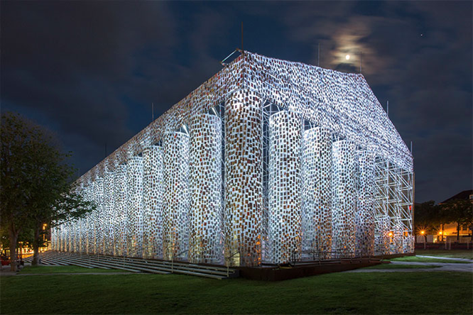Artist Uses 100,000 Banned Books To Build A Full-Size Parthenon At Historic Nazi Book Burning Site Bookish Buzz
