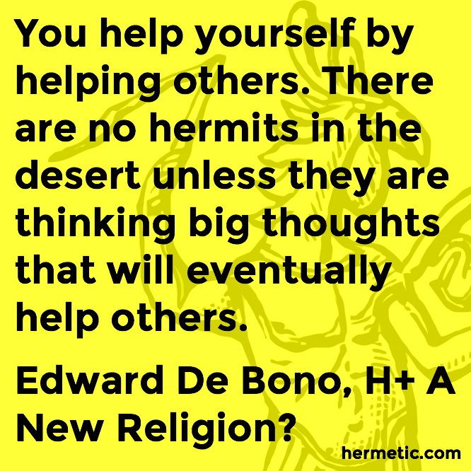 Hermetic quote de Bono H-plus help