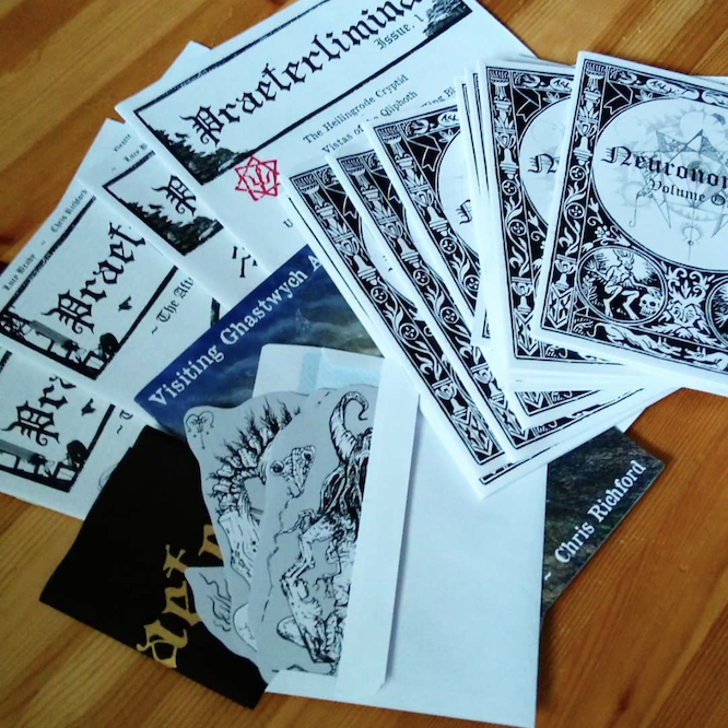 Hermetic Library zines and tchotchkes from Praeterlimina May 2019