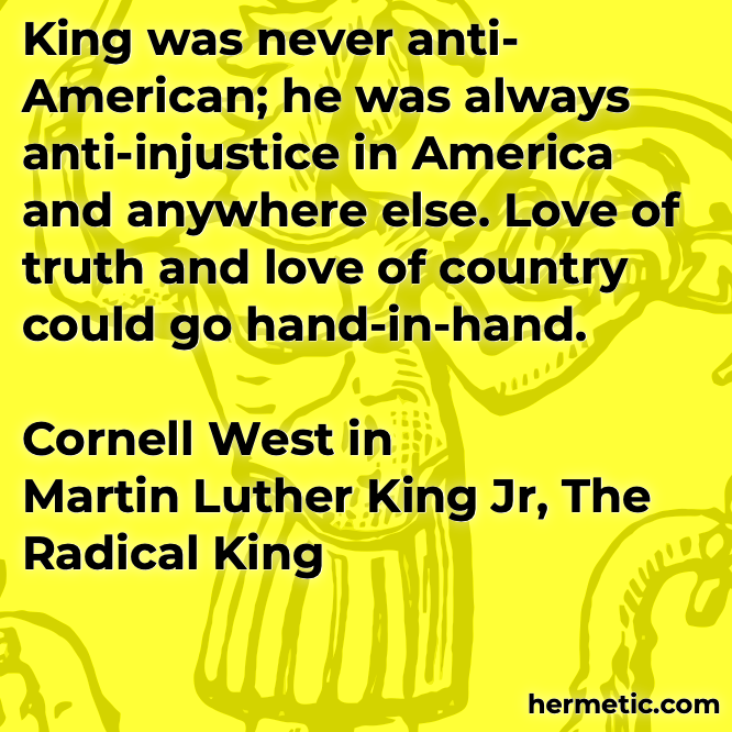 Hermetic quote West King Radical hand-in-hand